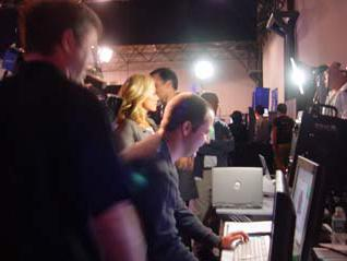 Kelly Ripa at the Direct Dimensions stand at NextFest2006