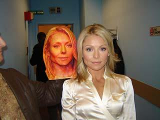 Side by side - the real Kelly Ripa with her Direct Dimensions copy