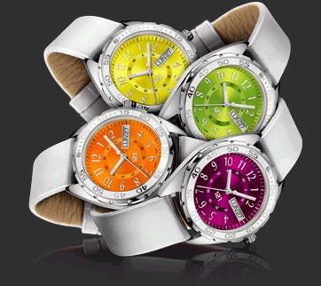 The new colours for the Challenger Lady range of customized watches from 121Time