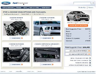 Screen shot of the Ford Direct website