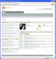 A screen shot of the MusicNow website