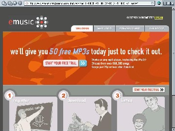 image of emusic.com website