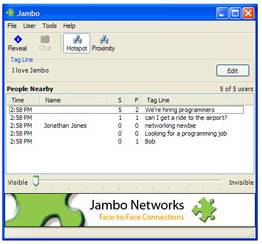 image of the jambo application