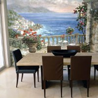 Image of a Murals Your Way dining room mural