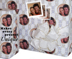 Example of personalized gift wrap from PicturePaper.com