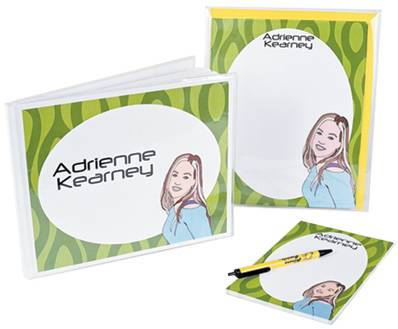 An example of personalized stationery from Shout-Outs.com