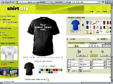 image of shirtcity.com homepage