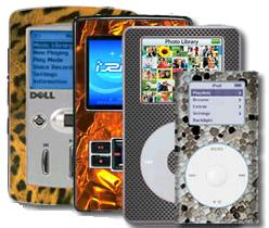 Picture of personalized PDA's and MP3 players