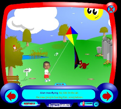 an image taken from the UStarGames Kite Capers game