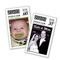 Examples of Zazzle.com personalized stamps