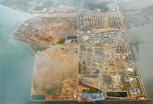 Image of Songdo City site (Gale International, June 2006)
