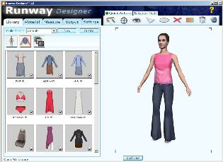 A screen shot of Optitex's 3D Runway Modelling Software