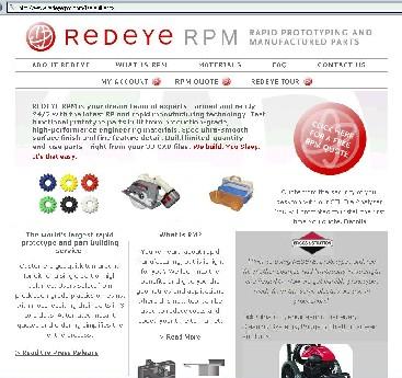 A screen shot of the RedEyeRPM website